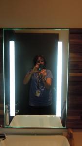 Miroir avec 2 fluorescents