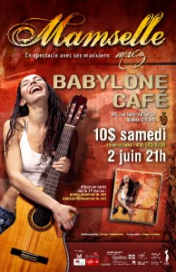 Mamselle Ruiz de retour à Québec, le samedi 2 juin dès 21 h au Café Babylone