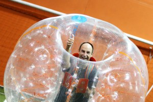 Miguel Levasseur venu expérimenter le Bubble Football