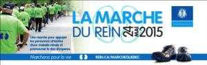 Marche du rein à Québec, dimanche 24 mai dès 9 h