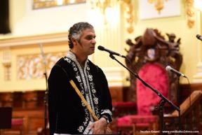 Rachid Zeroual et le ney, flûte traditionnelle