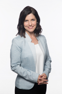 Andrée Martin, animatrice de l'émission Mise à Jour