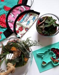 les produits des entreprises Kid Cavale et Jardins vitrium hortis, disponibles au Marché Emballant